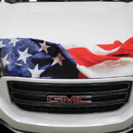 American Flag Vehicle Decal FoxPrint