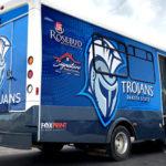 DSU Trojans Bus Wrap FoxPrint